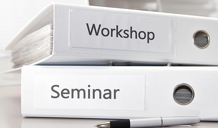 Training measures and seminars